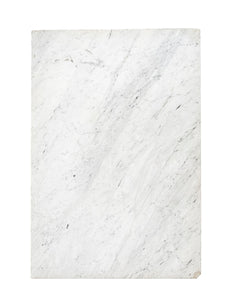 L White Marble w/ Grey Diagonal Veins