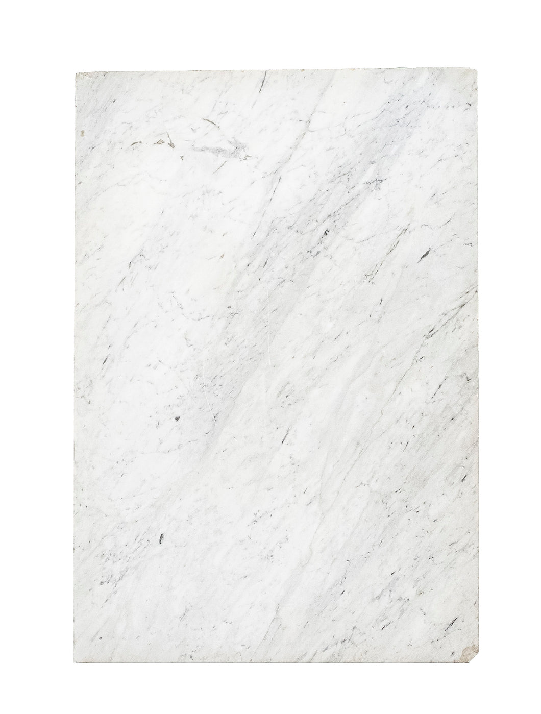 Lg White Marble With Grey Diagonal Veins
