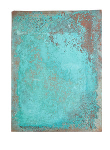 L Blue/Green Oxidized Copper Sheet