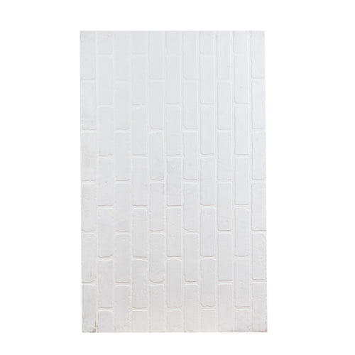 Sm White Faux Brick Masonite Sheet