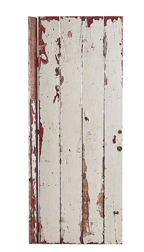 L Red/White Worn Door