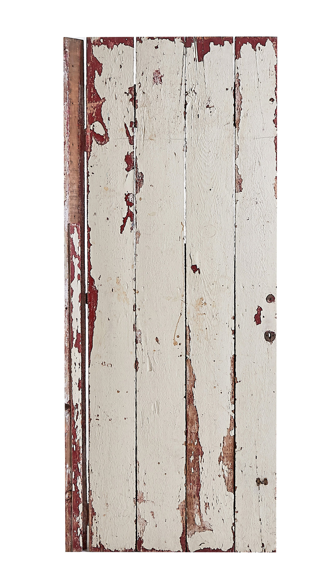 Lg Red/White Worn Door