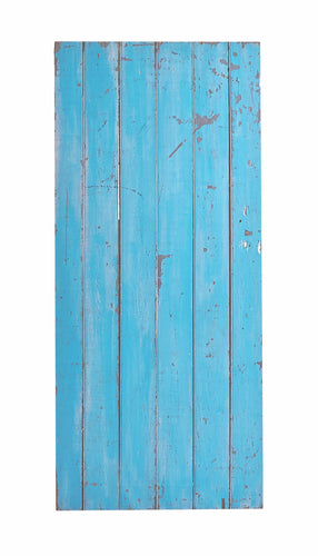 Lg Blue Painted Gate, Worn