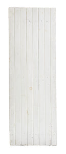 Md White Narrow Slatted Wood