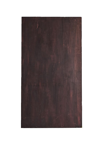 Lg Dark Brown Painted Wood