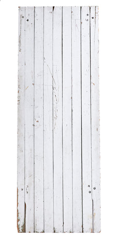 L White Wooden Narrow Planks