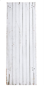 Lg White Wooden Narrow Planks