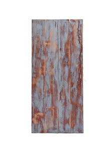 Sm Blue/ Brown Painted Distressed Wood