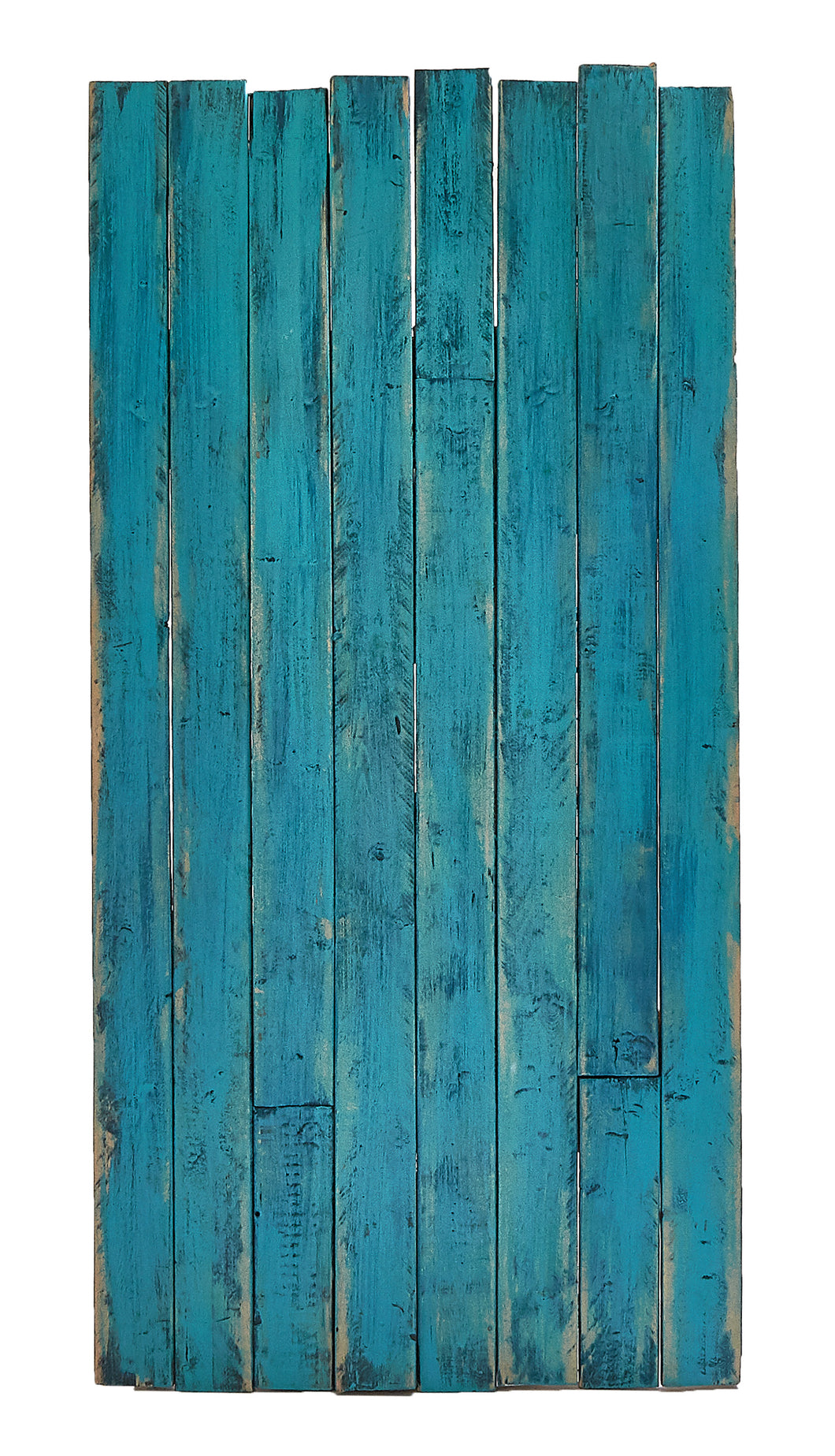 Lg Two-Toned Blue Wood Panel