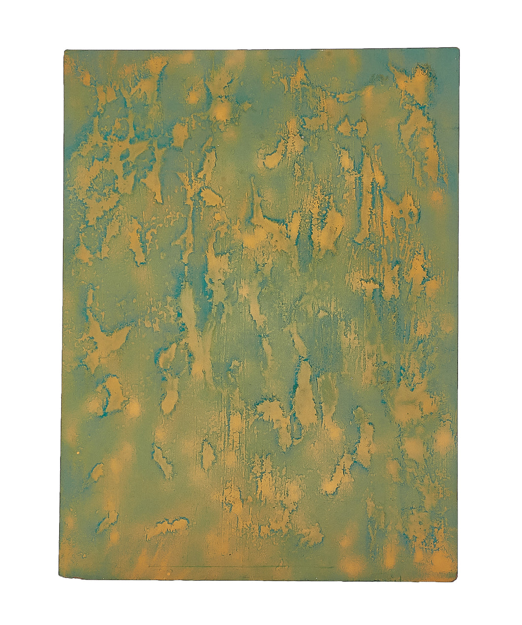 Md Yellow/Green Splattered Panel