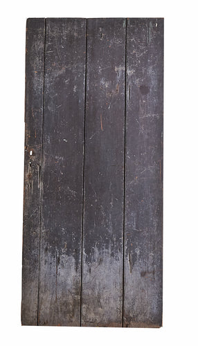 Lg Black Painted Door, Weathered Bottom