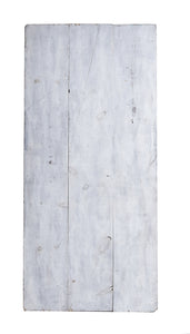 L Grey and White Panelled Wood