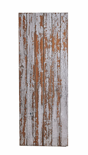 L Weathered White Door, Crackling Paint