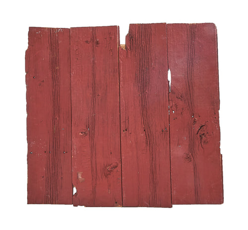 M Red Painted Barnboard