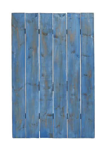 Lg Blue Painted Wood