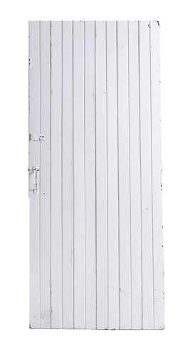 Lg White Painted Slatted Door