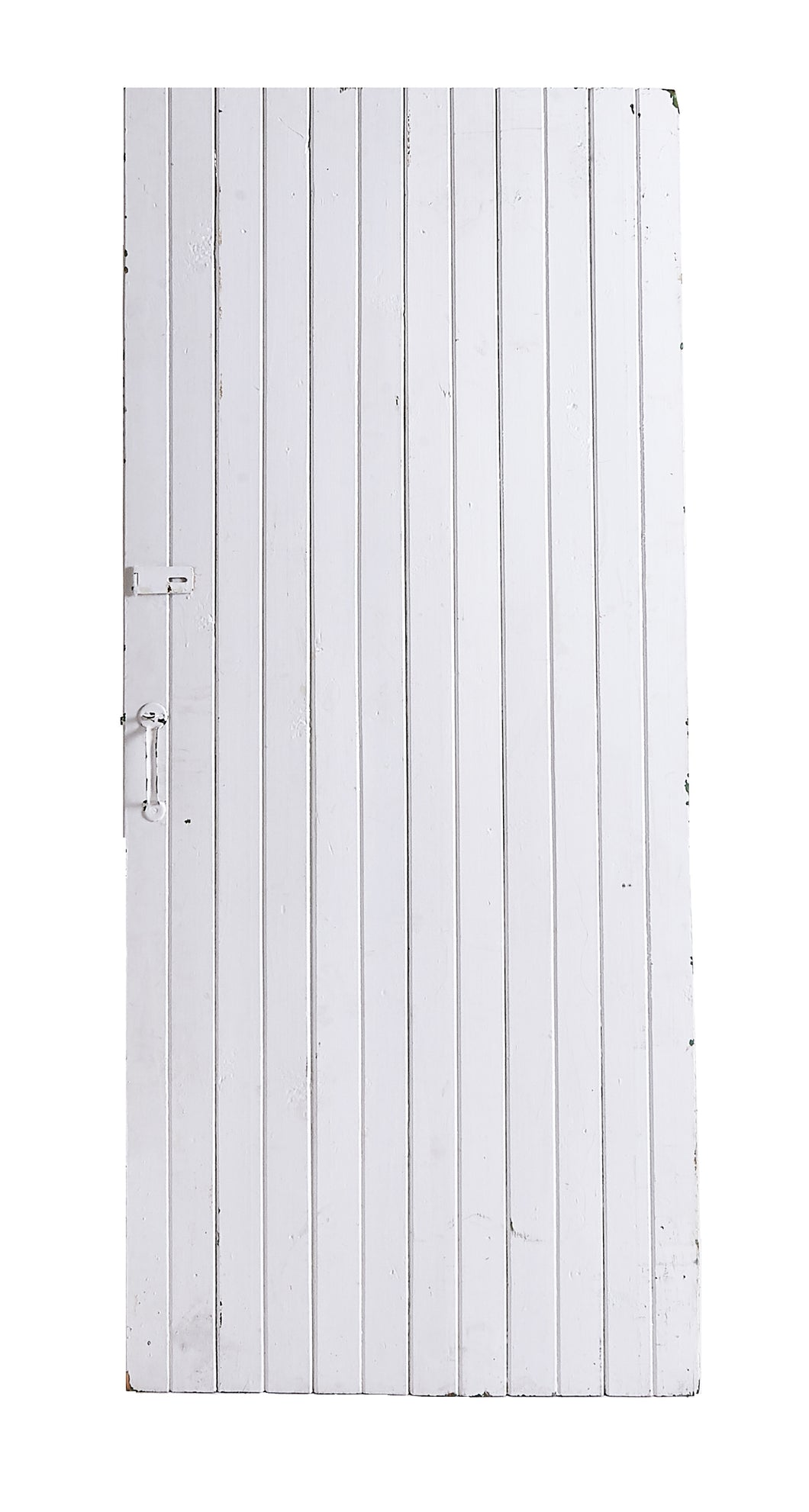 L White Painted Slatted Door