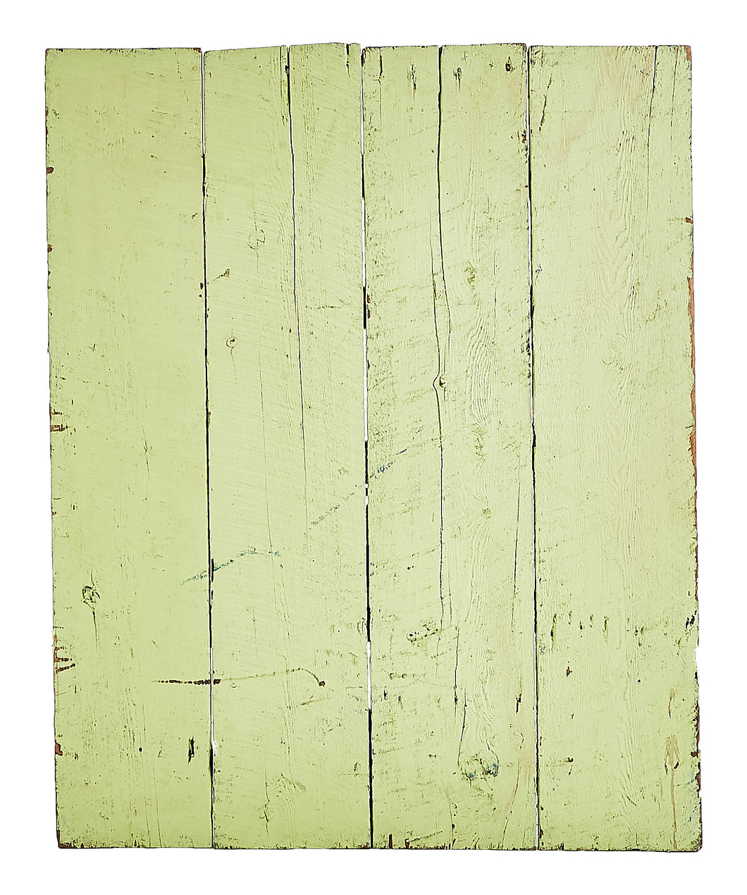 L Lime Painted Rough Wood
