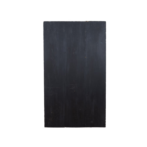 Lg Solid Black Painted Wood With Dark Grey Highlights