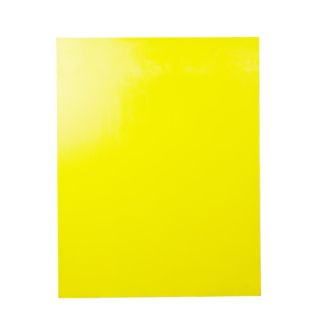 Lg Double-Sided Yellow And Pink Painted Board