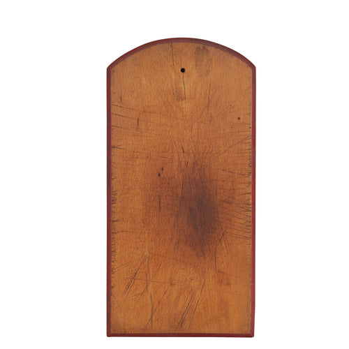 Md Natural Wood Board With Red Rim