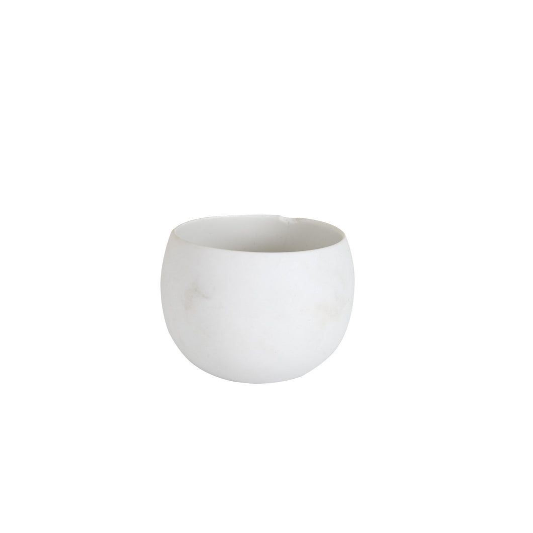 Sm Circular White Bowl/Cup With Matte Finish Outside