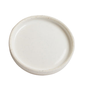Sm Shallow White/Cream Dish