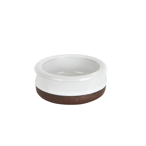 Sm White Bowl With Brown Bottom