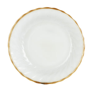 Md White Bowl With Gold Rim