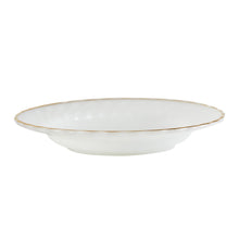 Lg White Bowl With Gold Rim