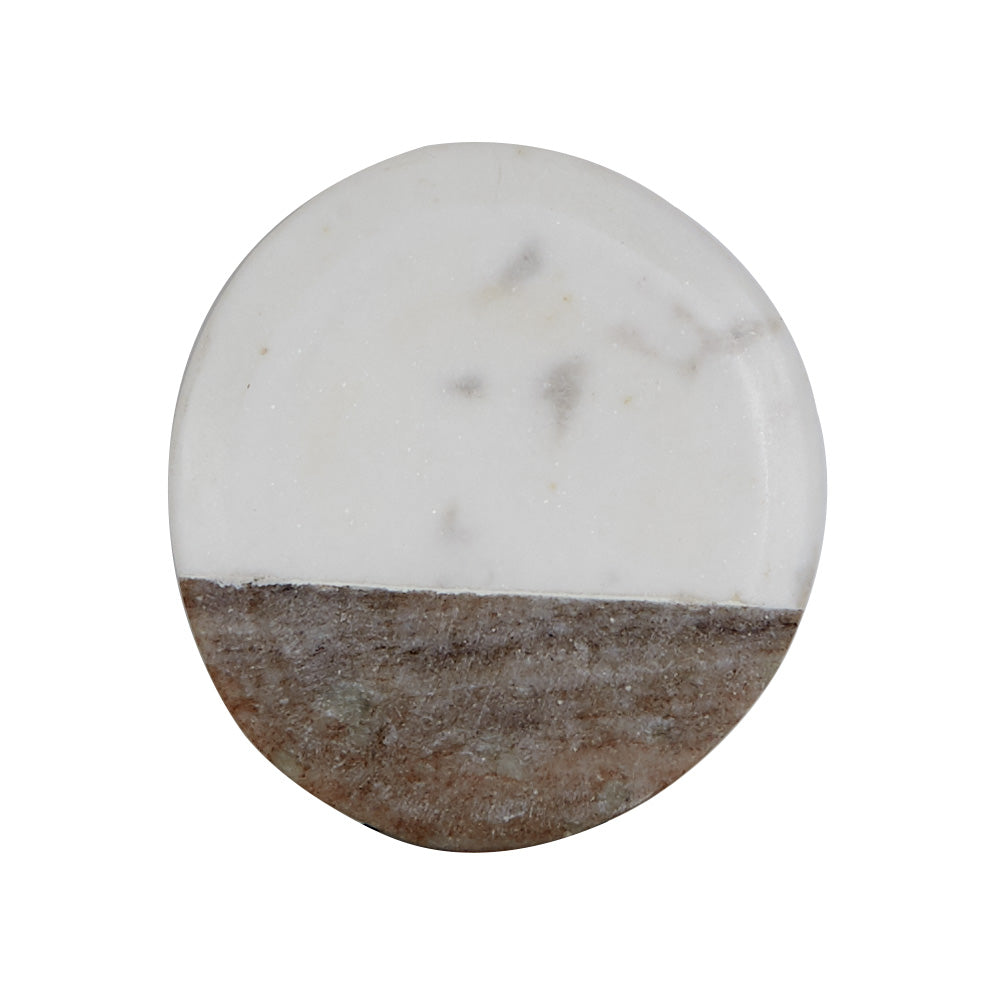 White And Grey Marble Coaster