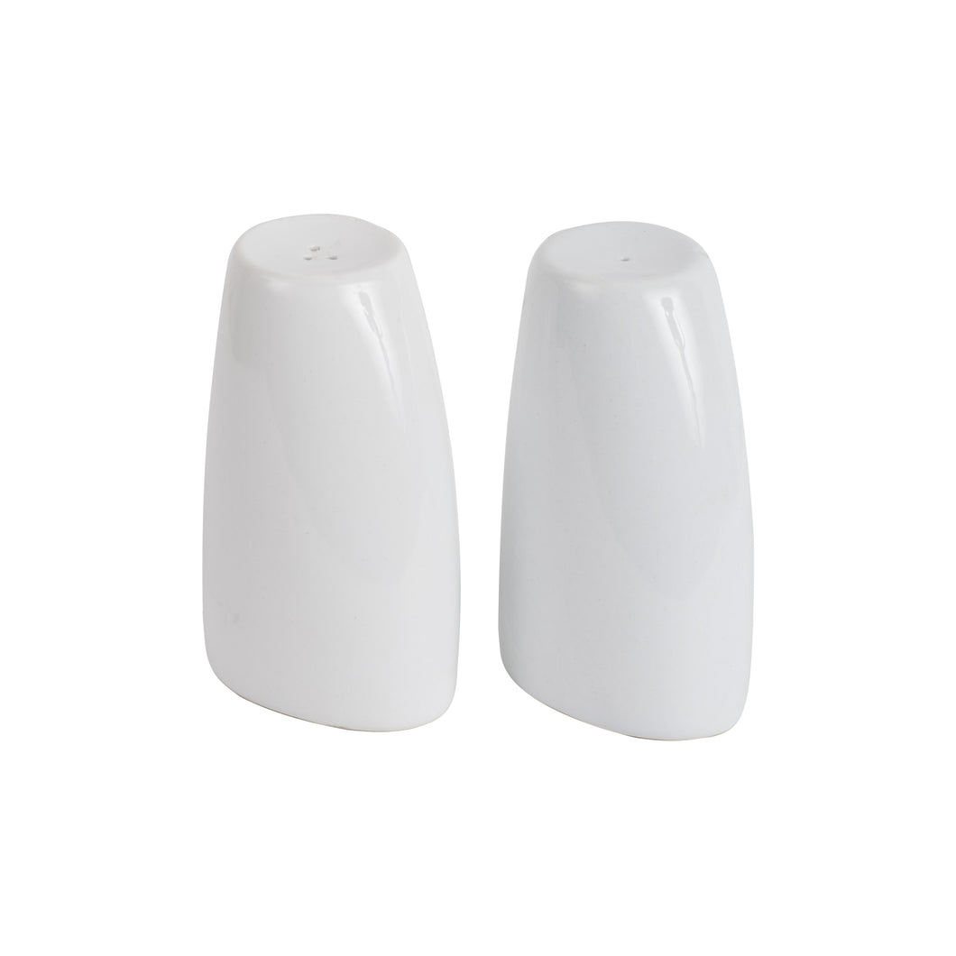 White Salt And Pepper Shakers