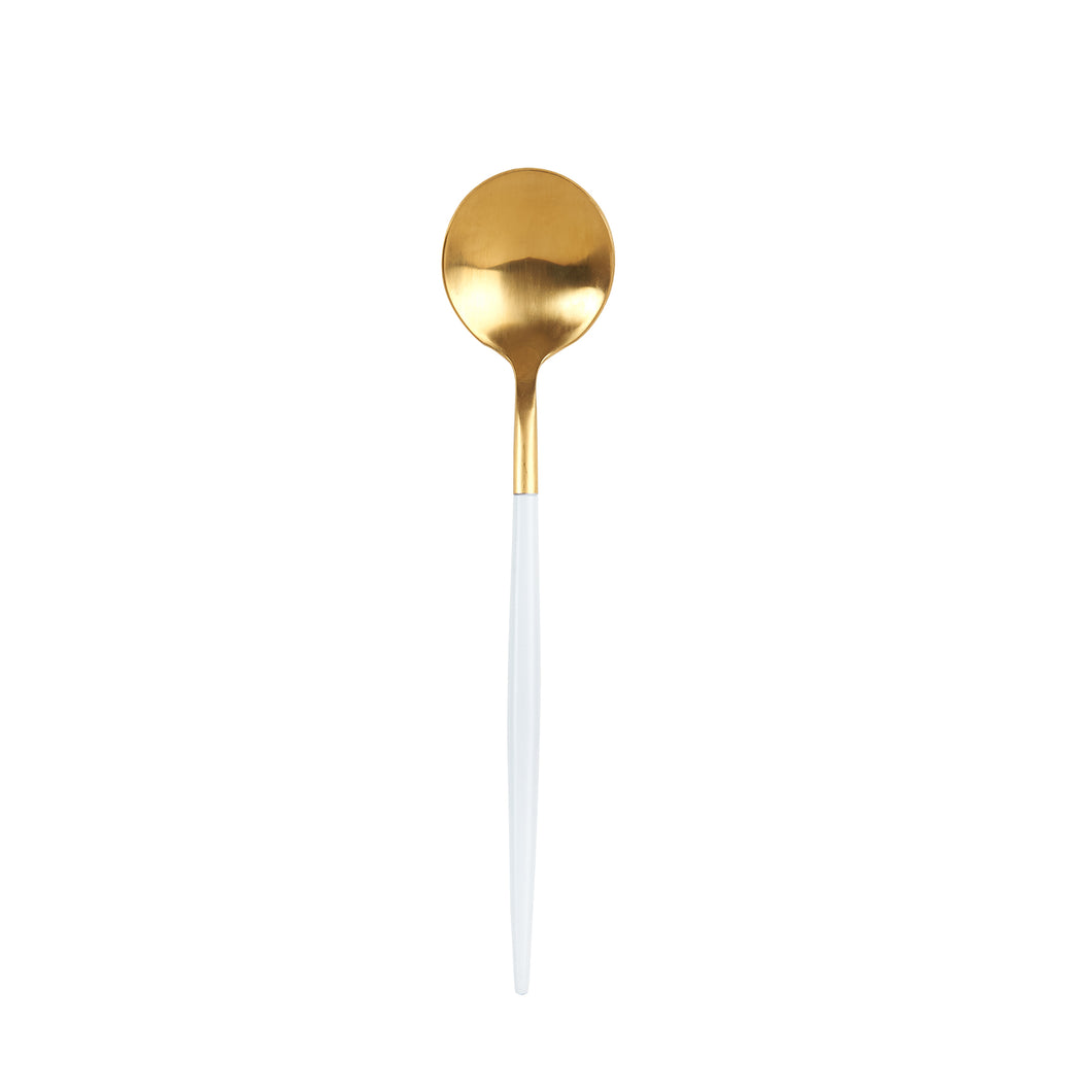 White And Gold Spoon