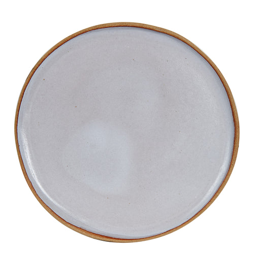 White Plate With Burnt Wavy Edges
