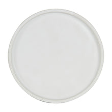 White Matte Shallow Plate