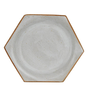 White Hexagon Plate