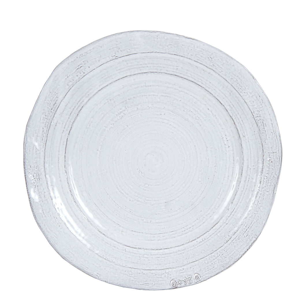 White Plate With Grey Edges