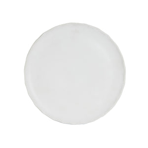 White Matte Plate With Wavy Edges