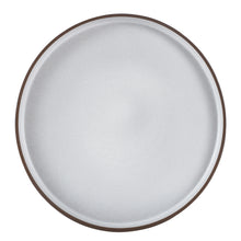 Lg White Plate With Dark Rim