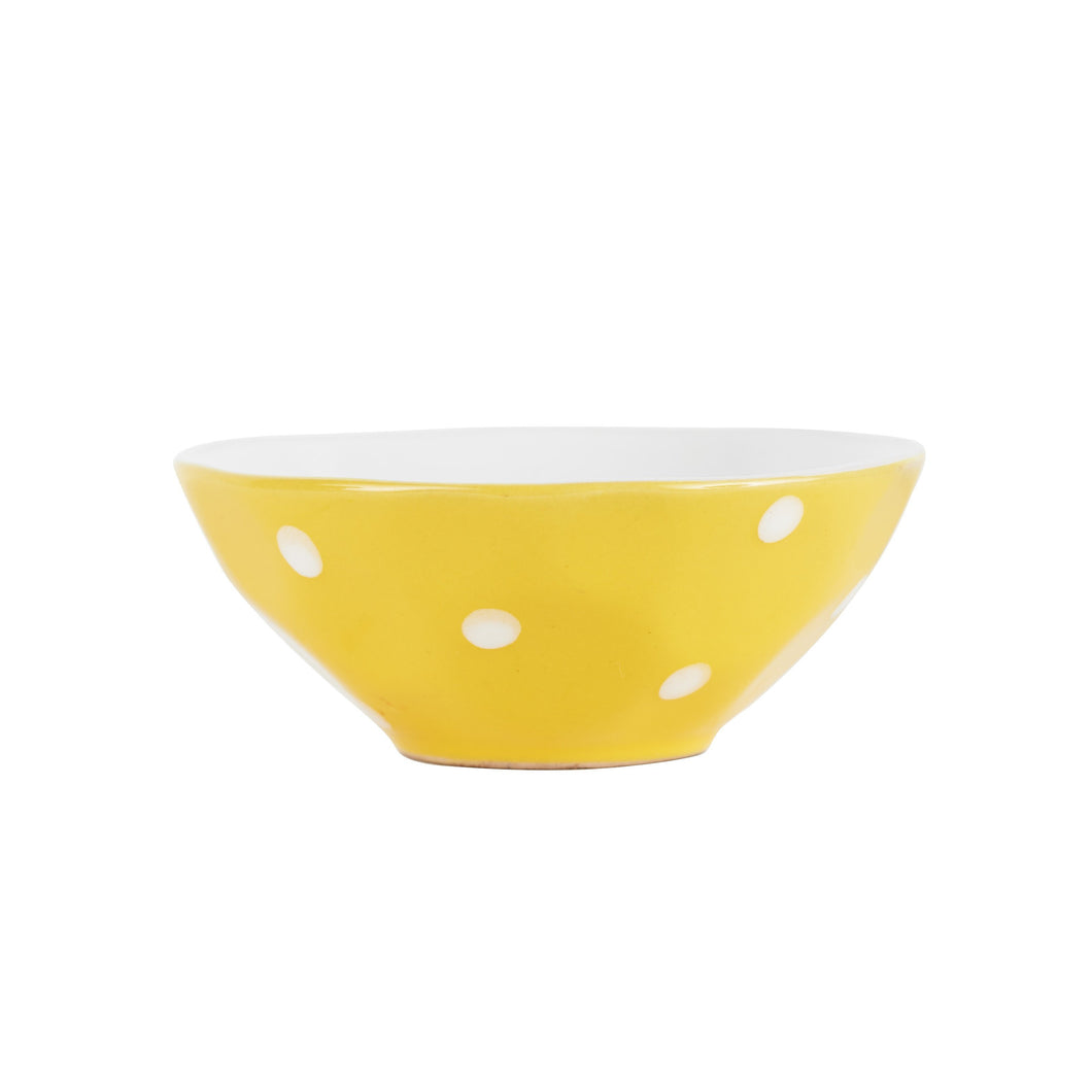 Sm Yellow Bowl With White Dots