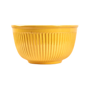 Lg Ribbed Yellow Bowl