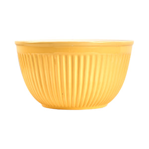 Lg Ribbed Light Yellow Bowl