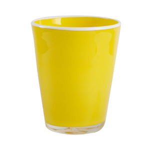 Bright Yellow Glass Cup