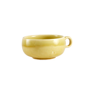 Short Yellow/Green Tea Cup