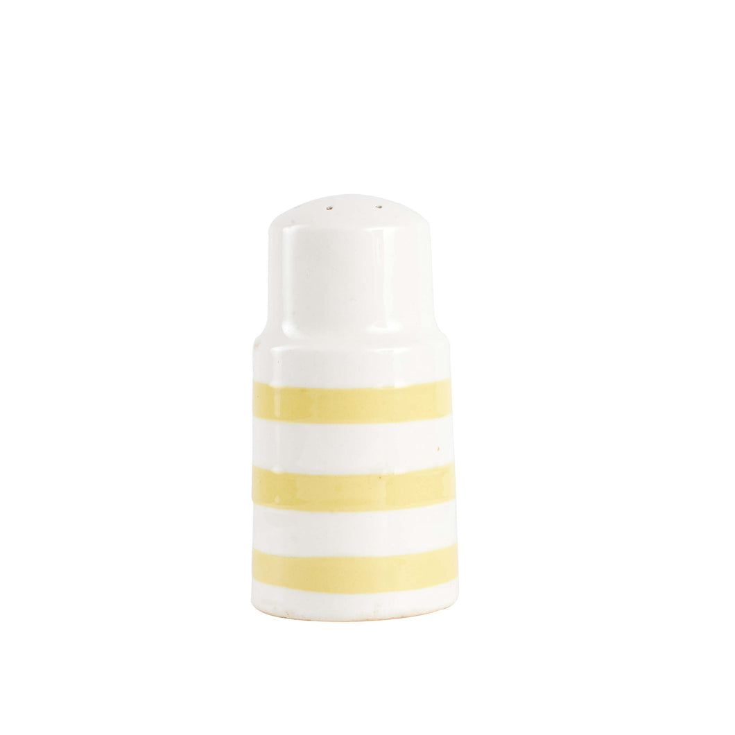 Light Yellow And White Salt And Pepper Shaker