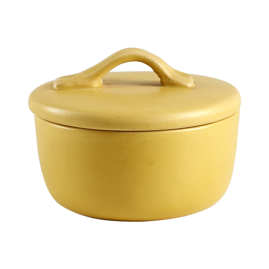 Sm Matte Yellow Ceramic Pot