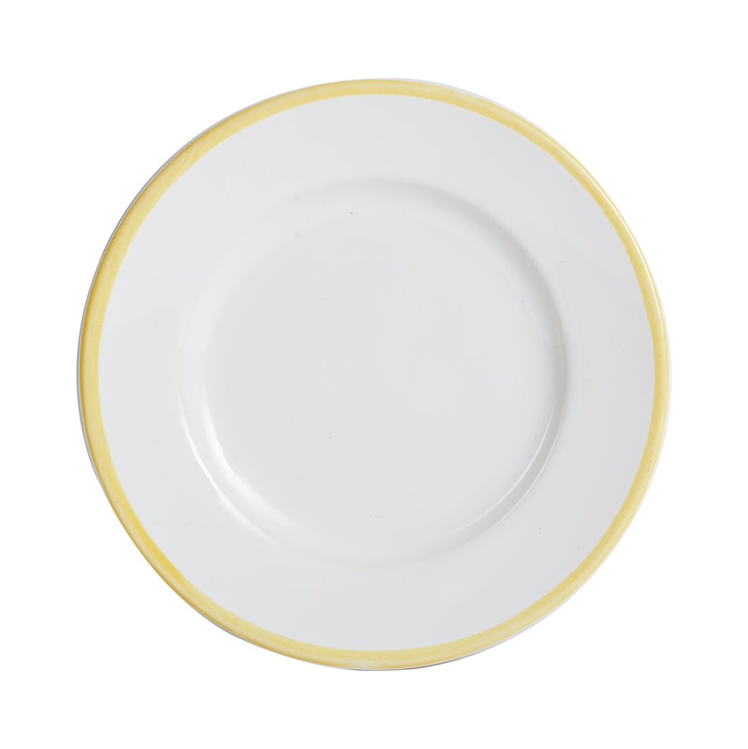 Sm White Plate With Yellow Rim