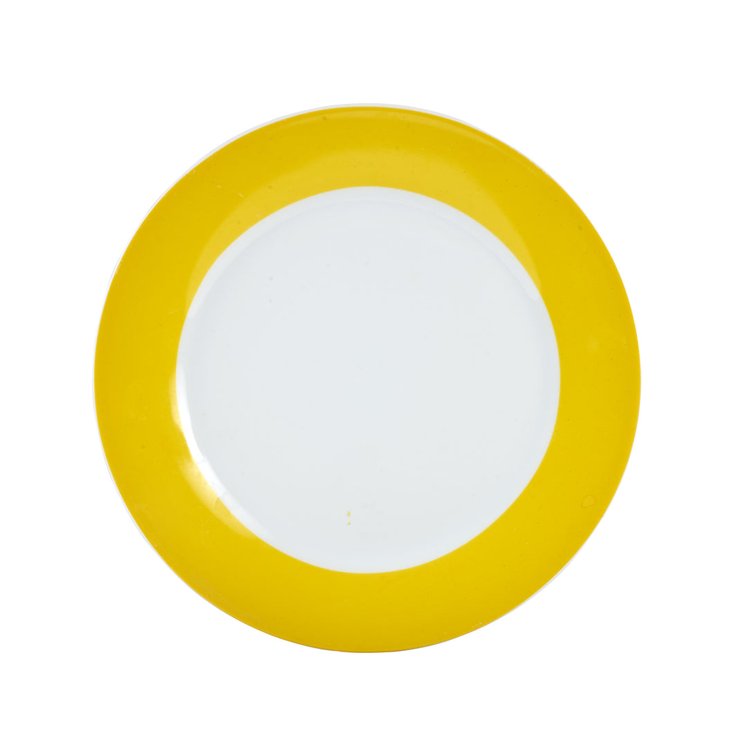 Md Bright Yellow Rimmed Plate