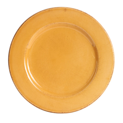 Lg Antique Yellow Plate