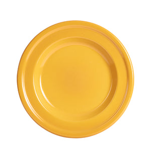 Md Honey Yellow Fluted Plate